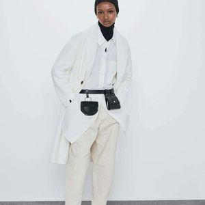Zara Womens Ecru Over Sized Cotton Coat Jacket XL